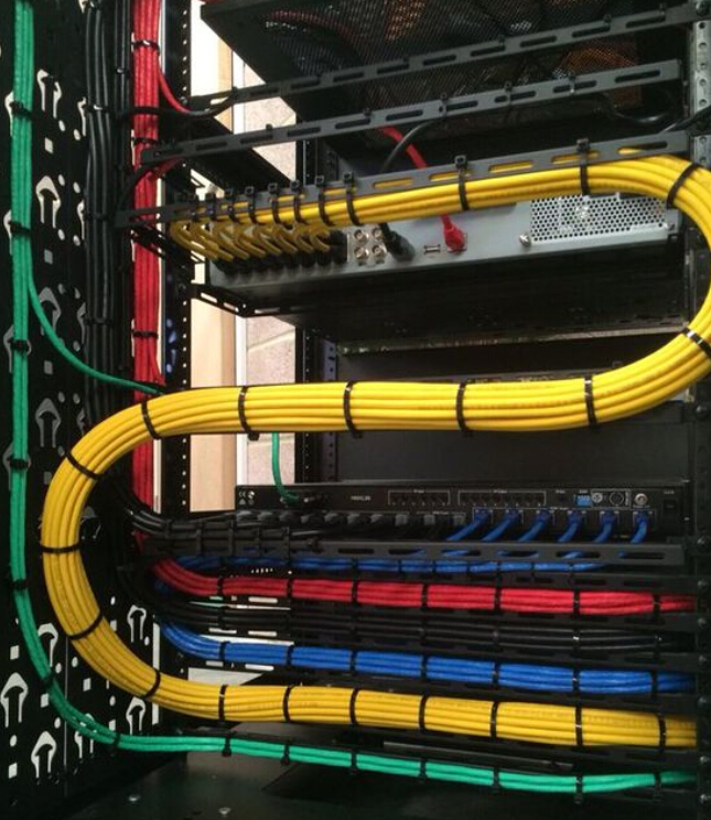 advice on server rack cable management rh fiber optic solutions com Professional Network Cabling Internal Server