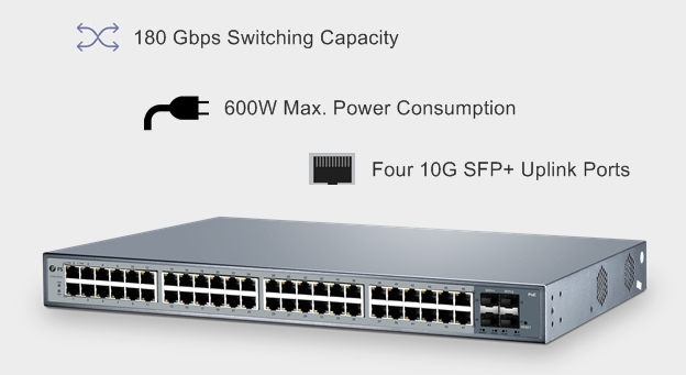 48 port switch FS S1600-48T4S
