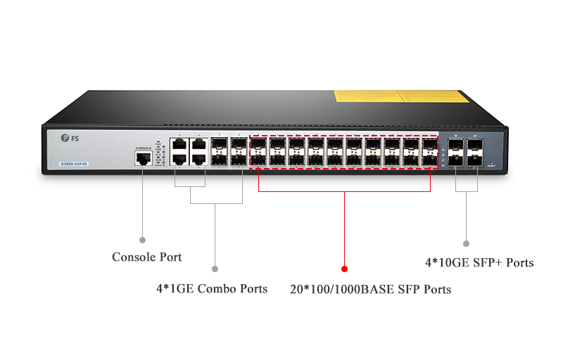FS S3800-24F4S 24 port switch