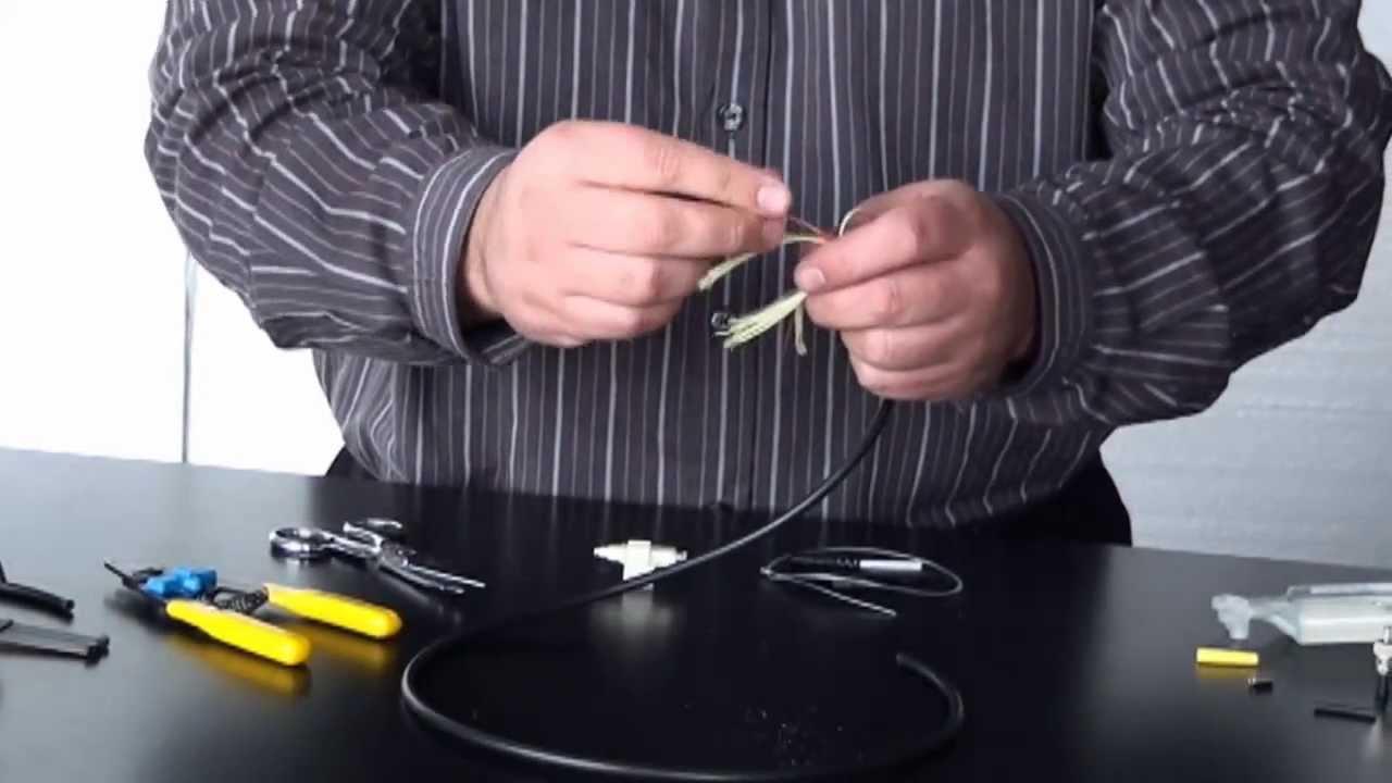 terminaison de câble de fibre