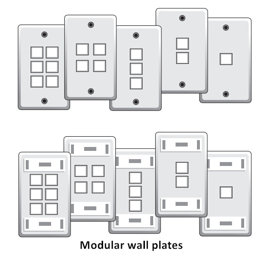 Modular wall plates