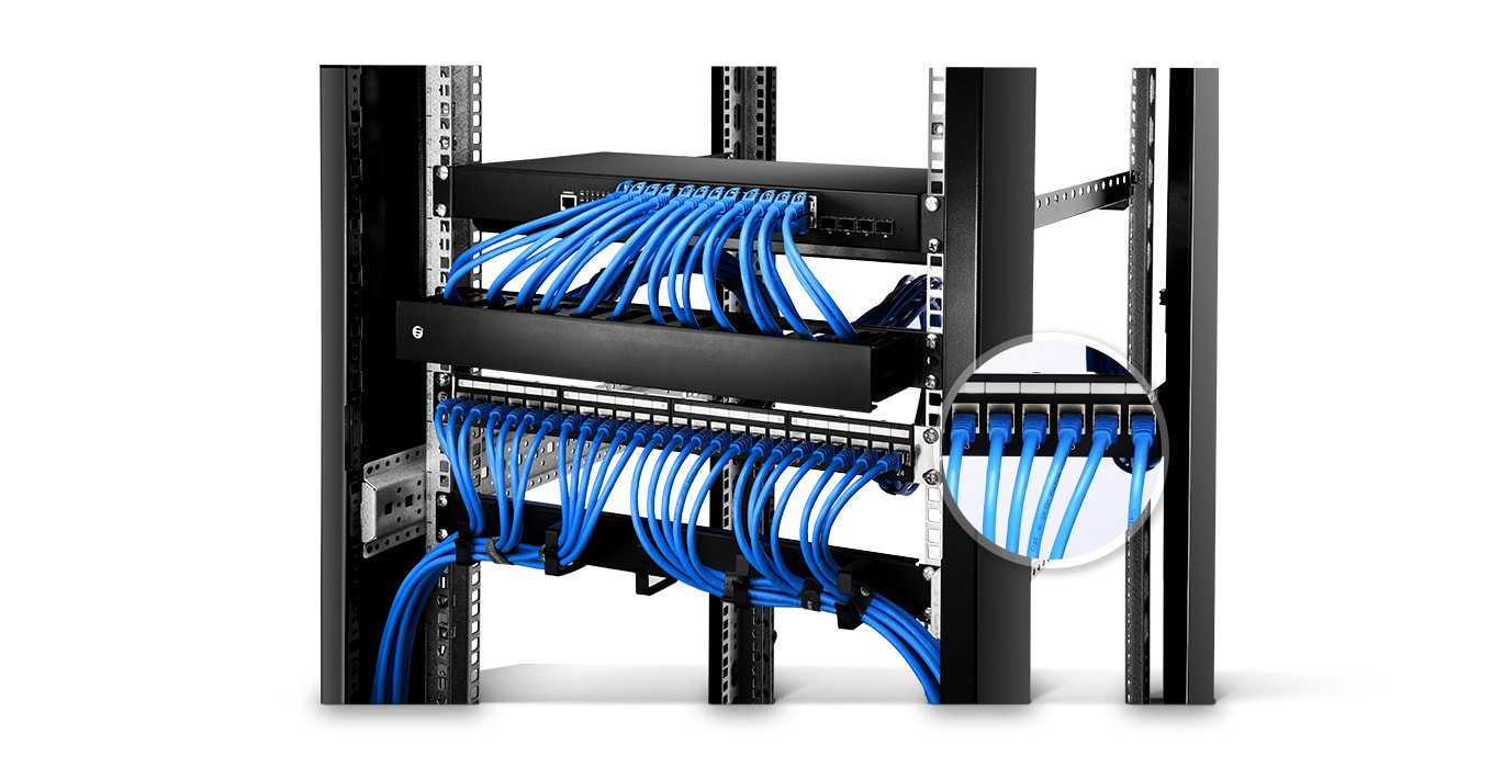 Structured Wiring Patch Panel Cat6 Automotive Diagram Wall Ethernet Keystone Vs Feed Through Punchdown Rh Fiber Optic Solutions Com Network Cat5 Design